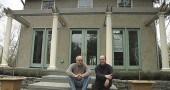 On a modern rehab on North Walnut Street, Erik and Deirdre Owen of BauWow construction company gave an old 19th-century house new life, with the help of Bob Bingenheimer and Deb Slater Pictured are, from left, Bingenheimer and Erik Owen. (Photo by Megan Bachman)