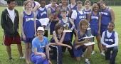 Proud McKinney track team: The McKinney track team proudly displayed its trophies after the boys team finished second and the girls took fifth at the Metro Buckeye Conference Championships two weeks ago. From left, in front, are Coach Isabelle Dierauer, Gabe Trillian, Oluka Okia with the team trophy and Kaner Butler; middle row, Matthew Conner, Charlotte Walkey, Rodman Allen, Taran Pergram with the pole vault trophy, Ethan DeWine, Aysha Allison and Madison Robertson; back row, Jacob Whetsel, Bryce White, Nathan Miller, Edward Johnson, Fielding Lewis and Alexas Nugster. (Submitted photo)