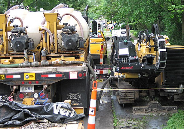 Vectren is replacing aging gas lines in areas around the village. Construction may impede passage or parking. Click the link in the article below to find dates and areas of work. (Photo by Matt Minde)