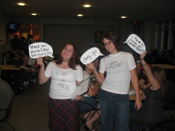 Me and Cherie at FSU, circa 2004, doing who in the heck knows what.