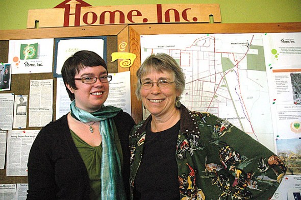 Emily Seibel, left, takes over as the executive director of Home, Inc. next month when Marianne MacQueen, the affordable housing group's founding board member and first director, steps down after more than 10 years at the helm. (Photo by Megan Bachman)