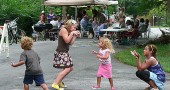 Kids and adults alike had a good time at last year's neighborhood block parties, including this one on Winter and Cliff Streets. This year's block parties take place the weekend of Aug. 19–21.