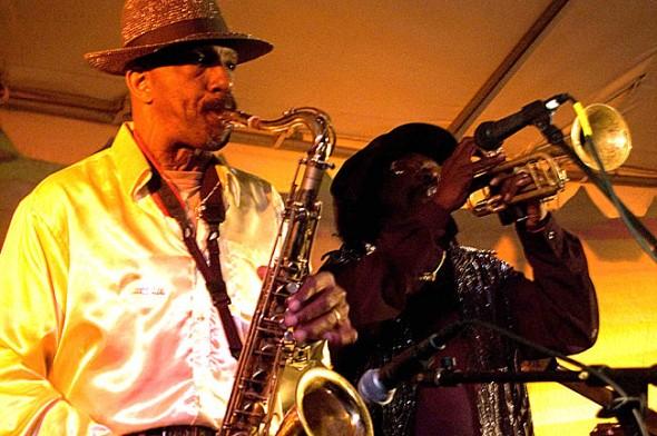 Musicians wail away at last year's Bluesfest. (Photo by Aaron Zaremsky)