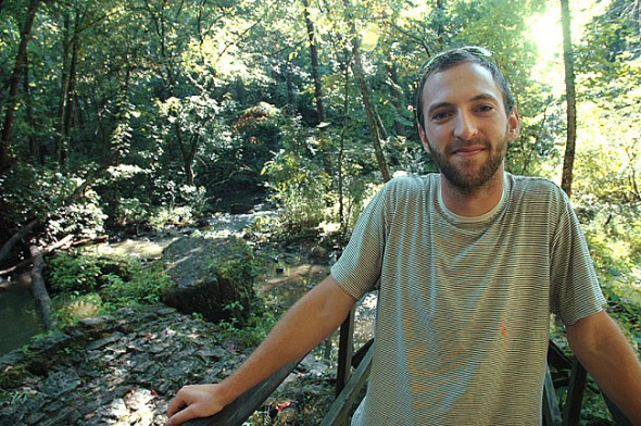 "Aaron Zaremsky in the Glen, where he found most of the subjects for his ""Weekly Wildlife"" posts. (Photo by Matt Minde)"