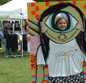 The first Cyclops fest of handmade arts and crafts was held in Yellow Springs on Saturday. (Photo by Megan Bachman)