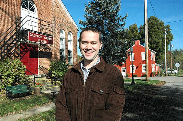 Yellow Springs native Alex Bieri is running for the position of mayor in Clifton. (Photo by Lauren Heaton)