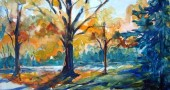 Watercolor by Yellow Springs artist Libby Rudolf, who will open her studio on Grinnell Road.