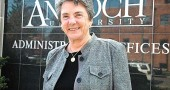 Antioch University Chancellor Toni Murdock will retire in June after six years in the position. Murdock led a major transformation of the university, including its separation from Antioch College. (Photo by Megan Bachman)