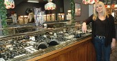 The downtown jewelry store Ohio Silver celebrates its 40th anniversary this Friday, Nov. 18, from 6–9 p.m. during the Third Friday Fling. Shown is store owner Marcia Wallgren, who has owned Ohio Silver since 1974.