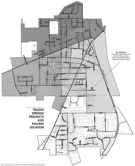 Yellow Springs 2011 Precinct Map