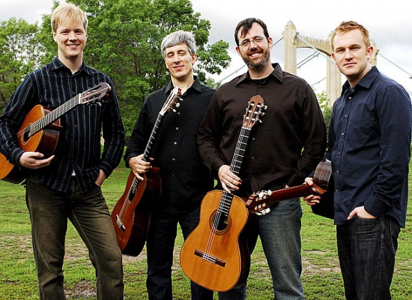 The Minneapolis Guitar Quartet will perform this Sunday, Feb. 5, at 7:30 p.m. at the First Presbyterian Church as part of the Chamber Music Yellow Springs season.