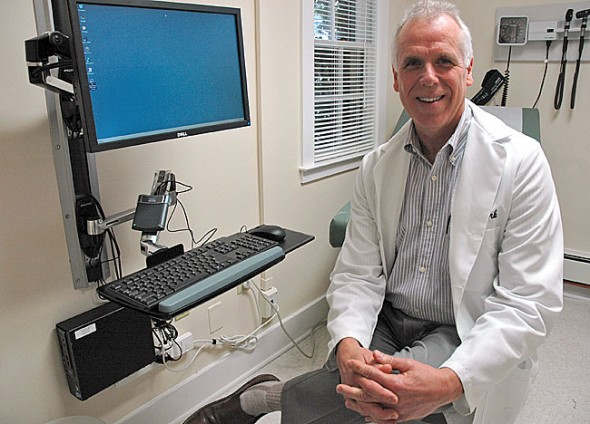 Dr. Alan Fark has set up his new family medicine practice at 716 Xenia Avenue. His office is under the umbrella of the Springfield Regional Medical Group. (Photo by Diane Chiddister)
