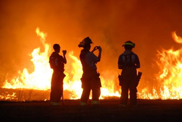 prairie burn cameras