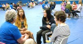 McKinney Middle School students are shown last Monday during small group discussions that were part of Re-Do Day, an anti-bullying program. All students took part in the activity, which was part of a weeklong McKinney Wellness Week. The week also included presentations on male and female body image and suicide prevention. (photos Megan Bachman)