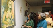 The nude paintings in the Women's Voices Out Loud art exhibit stirred controversy earlier this spring. A community forum on local arts policy in Village buildings will take place this Monday, May 21, at 7 p.m. during the regular Village Council meeting.