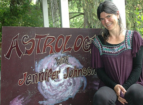 Local astrologer Jennifer Johnson will give a free introduction to astrology on Saturday, May 12 at 2 p.m. at the Yellow Springs Library. (Photo by Lauren Heaton)