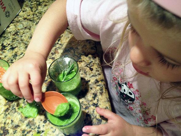 daughter enjoys vitamin packed sorbet