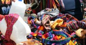 Colorful headbands at one of the booths at Street Fair. (photos by Suzanne Ehalt)