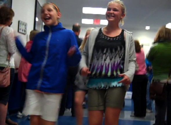 The 2012 annual sixth-grade clap-out happened at the end of the day, June 1.