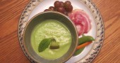 Cucumber Avocado Soup with nibbles