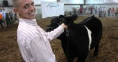 Austin Pence with a show steer.