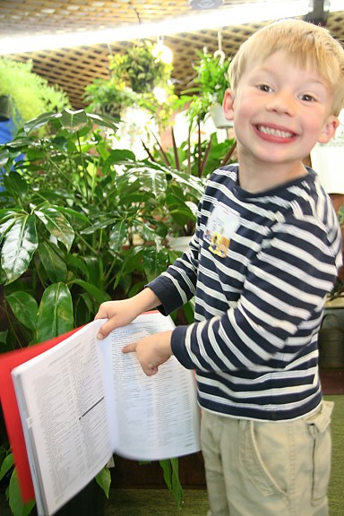 Loren was so excited to see his name in the 2012-13 Redbook! (photo by Suzanne Ehalt)