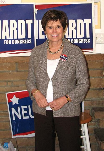 10th district Democratic candidate Sharen Neuhardt at her campaign headquarters in Dayton. (Photo by Jeff Simons)