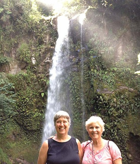 Kim Roman and Linda Sikes, pictured here in South America, were among a host villagers who sought adventure abroad over the summer.