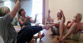 "YSKP instructor Jill Becker, left center, is offering her ""fluid core"" class again this fall."