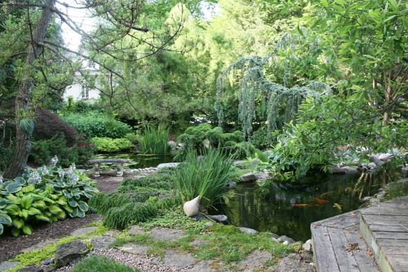 Linda Kinney's Xenia Ave. summer time garden. (photos by Suzanne Ehalt)