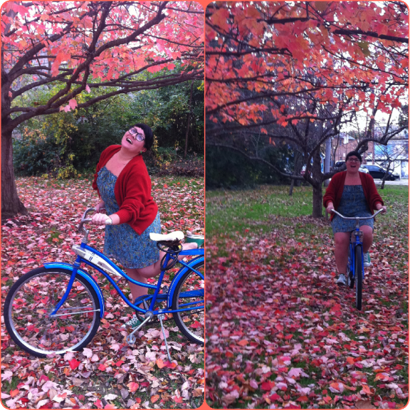 "My bike and I are now obviously in the ""ridiculous photo shoot"" phase of our relationship."