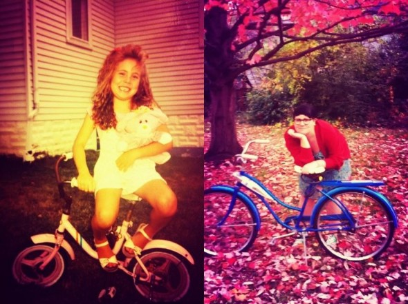 Me and my bikes, 1991 (or so), 2012.