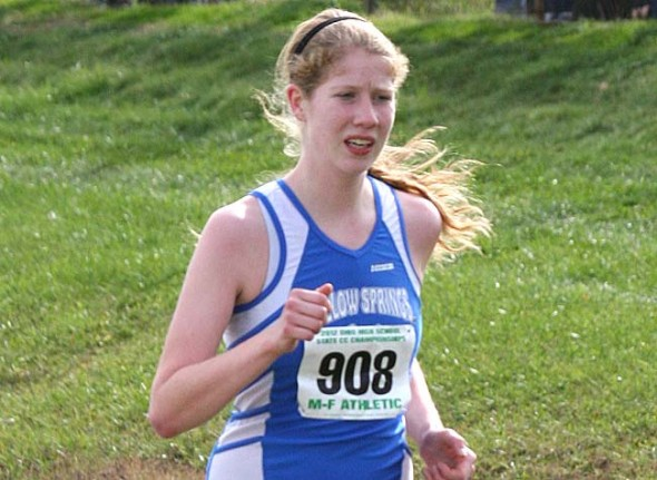 YSHS senior Lois Miller clocked a new school 5k record of 19:12 at the state cross-country finals on Saturday. Miller finished the year as the 21st fastest high school runner in Ohio. (Submitted photo by Vince Peters)
