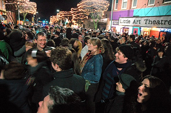 Revelers gathered on New Year's Eve a year ago for the annual Yellow Springs Ball Drop.