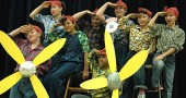 The Albert Brown Show, Mills Lawn Elementary School's biennial all-school musical, will be performed on Friday, Dec. 14, and Saturday, Dec. 15, at 7 p.m. at the Paul Robeson Cultural and Performing Arts Center on the Central State University campus. Saluting are a group of Rosie the Riveters, from left, in the front row, Deena Green, Jenesis Williams and Malaya Booth; back row, Freddie Collins, Charlotte Nieberding, Audrey Thomas, Ellie Lang and Jude Meekin. (Photo by Megan Bachman)