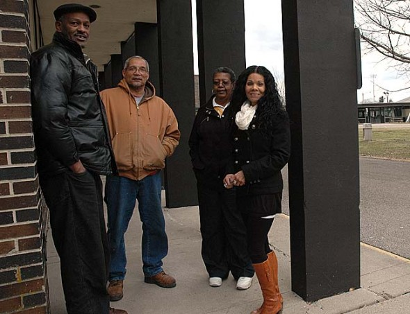 "Five Yellow Springs natives, from left, Sterling Wright, Russell Cordell Jr., Jean McKee and Sarah Mabra Cloud (Paul Ford Jr. not shown) will talk about their experiences in Yellow Springs in the 1960s at a Feb. 25 panel discussion and reception at Antioch University Midwest. The program, ""Being Black in Yellow Springs: The Sixties Experience,"" is the second in a series of events focusing on village African Americans sponsored by the 365 Project. (Photo by Diane Chiddister)"