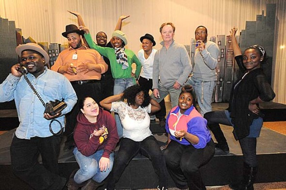 "YSKP Director John Fleming will direct ""Ain't Misbehavin'"" at Central State University this weekend. He's shown with the cast of CSU students."