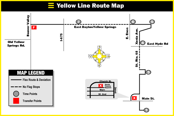 Greene CATS Yellow Line  Xenia/Yellow Springs/Fairborn connector