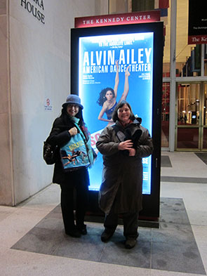 We see Alvin Ailey's Company at the Kennedy Center
