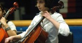 Anna Williamson performed with the Celebration orchestra as well as a string trio.