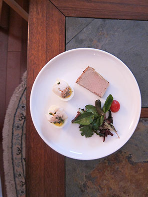 Scalloped Eggs With Duck Pate
