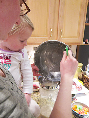 straining the buttermilk