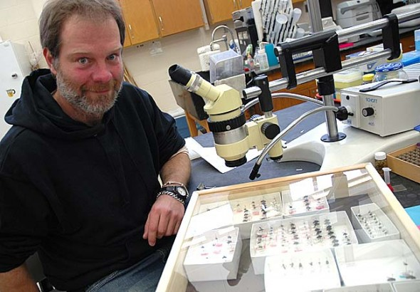 Entomologist John Stireman, who lives in the village and works at Wright State University, was honored in November by having a newly-identified wasp, the Ilatha Stiremani, named after him. (Photo by Megan Bachman)