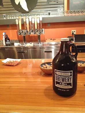 growler at the bar