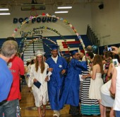It was a hot one in the high school gym last night while friends and family packed in to watch the YSHS graduating class of 2013.