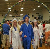 It was a hot one in the high school gym last night while friends and family packed in to watch the YSHS class of 2013 graduate.