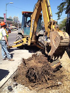 excavator In Front