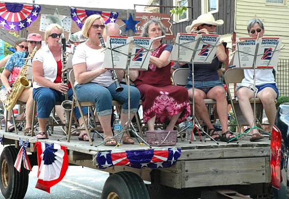 The oft-rescheduled 2013 Independence Day parade will take place today at 3 p.m. Shown is the band wagon from last year's parade. (Photo by Suzanne Szempruch)