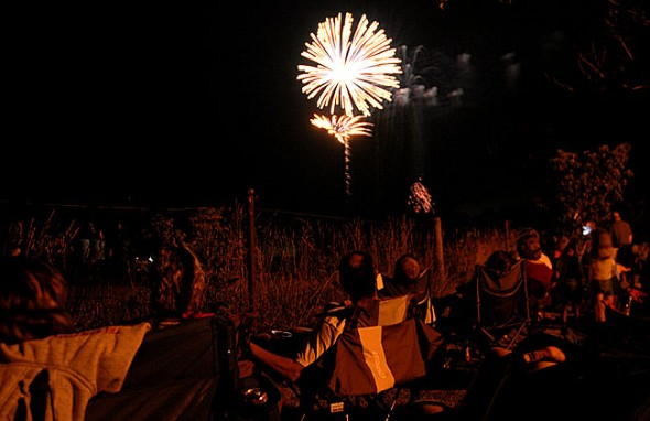 Fireworks from the 2012 display at Gaunt Park. (Photo by Suzanne Szempruch)c