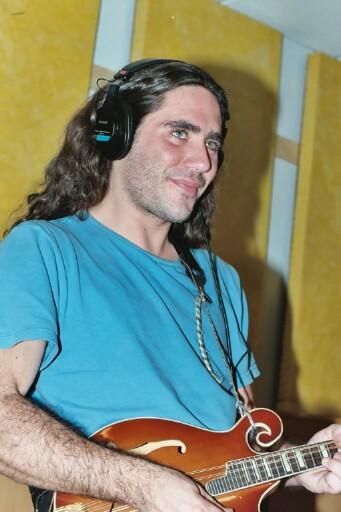 Local musician Oliver Simons, here recording with the band Paul's Apartment in 2002, was recently convicted of burglary after police say he broke into local homes and stole valuables and cash. (Photo courtesy of Paul's Apartment)
